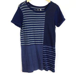 UO BDG | XS | T-shirt Dress | Patchwork | Blue